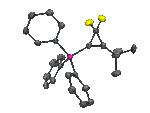ORTEP representation of a difluorocyclopropenyl compound
