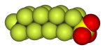 A long fluorinated (fluorous) chained molecule