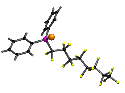 A phosphine selenide with a long fluorous ponytail