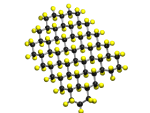 a ball and stick model of fluorographene