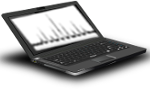 Laptop with NMR spectrum