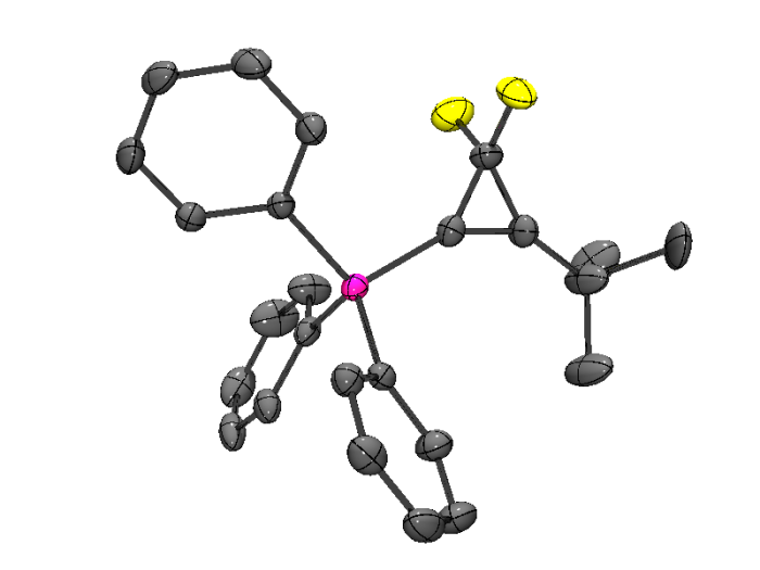 A triangular cyclic difluoropropene ring system